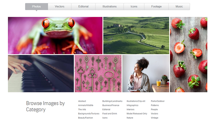 Browse for cheap stock images